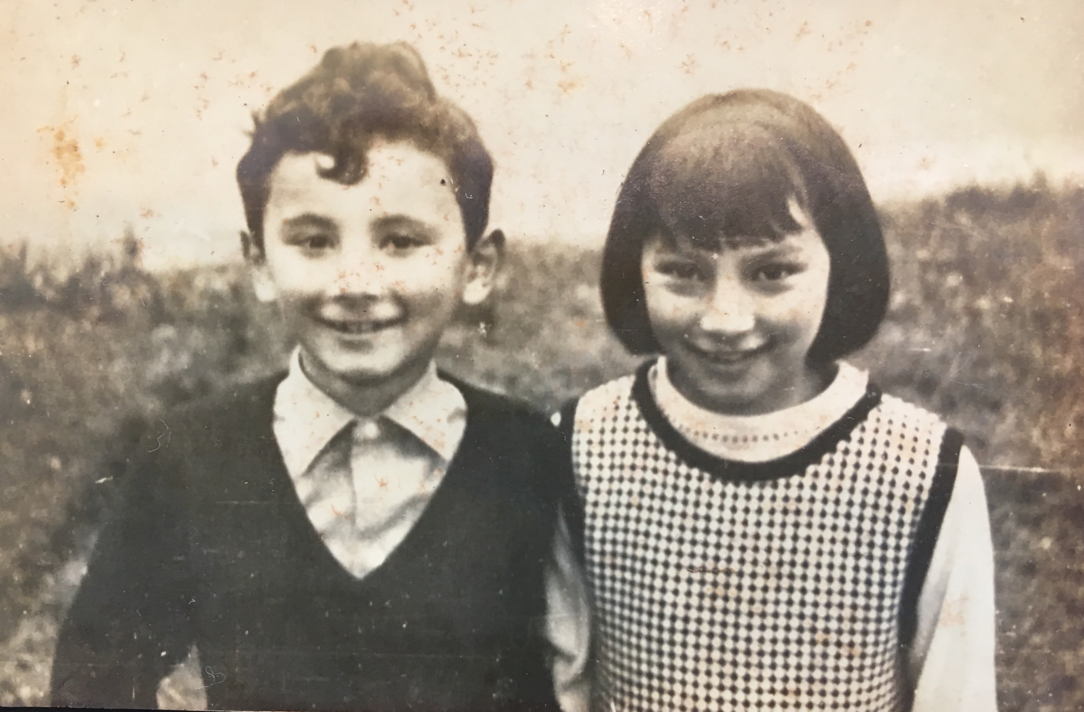 Nick with sister Jenny, around 1962 or 1963