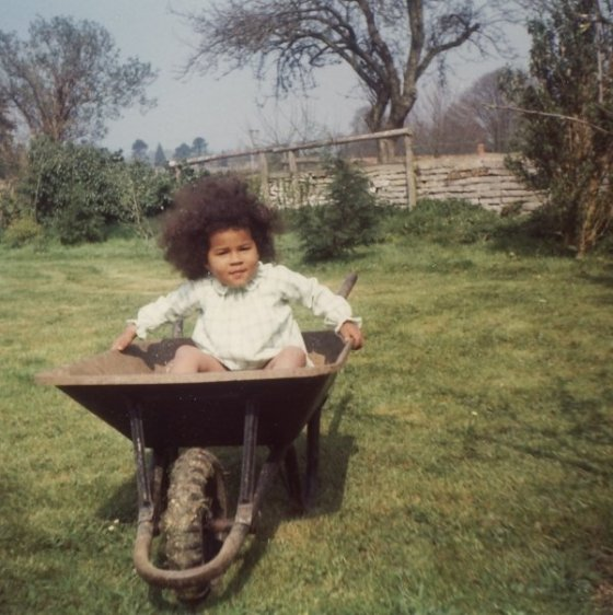 Sethina as a child at her grandparent's house in Somerset
